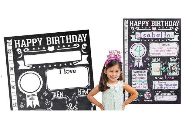 Remember the special-day details with Sticky Bellies' personalized birthday poster