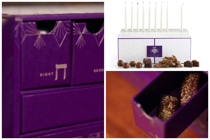 A Chanukkah gift set from Vosges that takes the holiday cake or, er, chocolate.