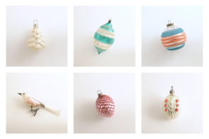Wonderful vintage Christmas ornaments and decor on Etsy: And a very merry, mid-century Christmas to you too.