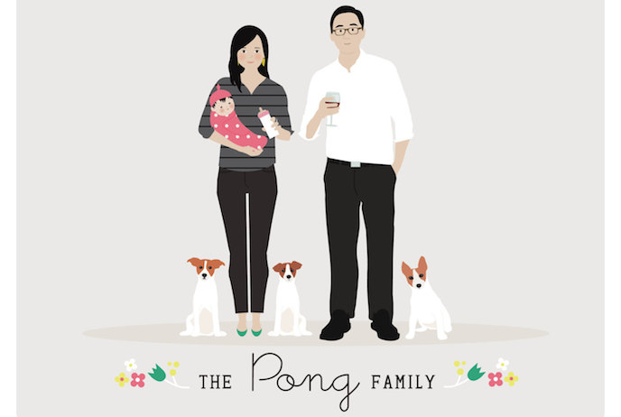 Custom family portraits: 10 cool, modern options for a truly special holiday gift
