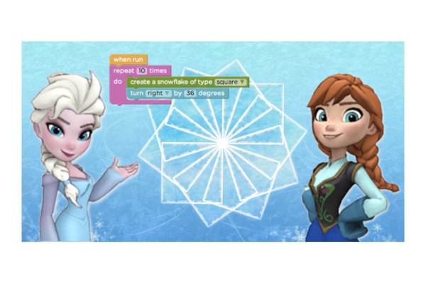 Learn to code with Frozen's Anna and Elsa!