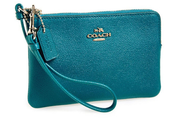 Designer accessories under $100 (perfect for holiday gifts!): Coach small leather wristlet