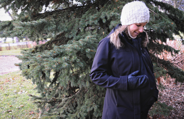 Turn your own outerwear into a maternity coat with Make My Belly Fit