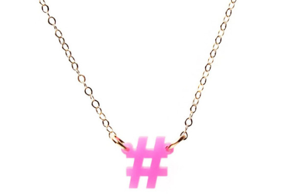 Mini Social Hashtag Necklace