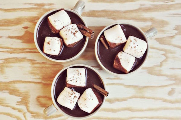 Cool Mom Picks round-up of the best hot chocolate recipes | Aztec Hot Chocolate by A Beautiful Mess