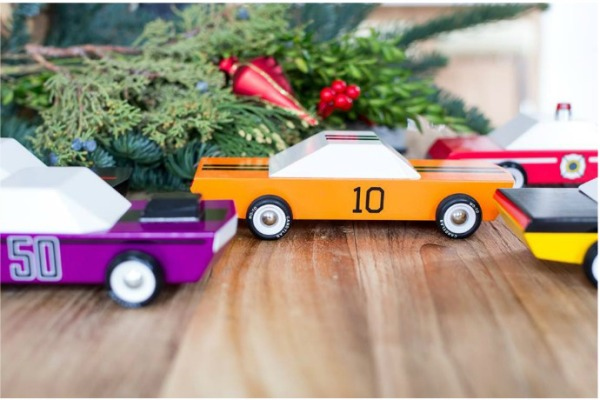 Candylab's wooden toy cars for the holidays