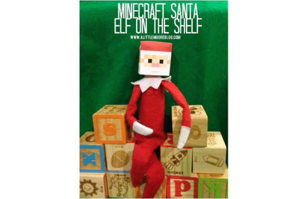 Free printable Minecraft Santa Elf on the Shelf