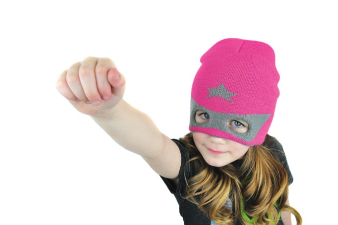 Superhero hats for kids who already have the capes. And the imagination.