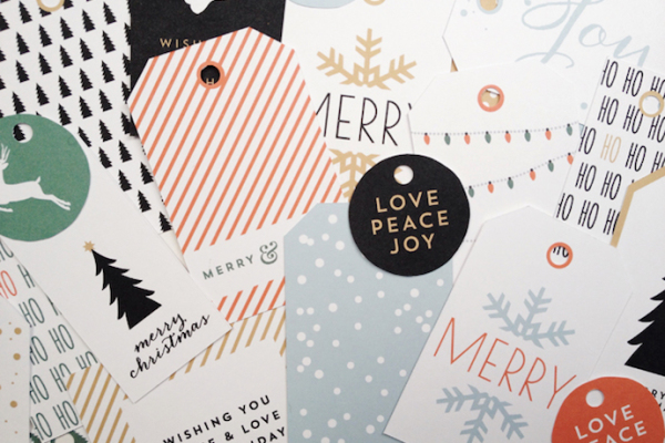 Never run out of holiday gift tags with these free printables
