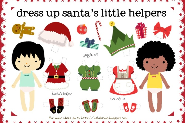 Free printable Christmas paper dolls