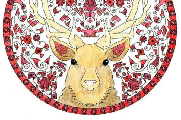 Coloring books for older kids and adults: Animal Mandalas by Wendy Piersall