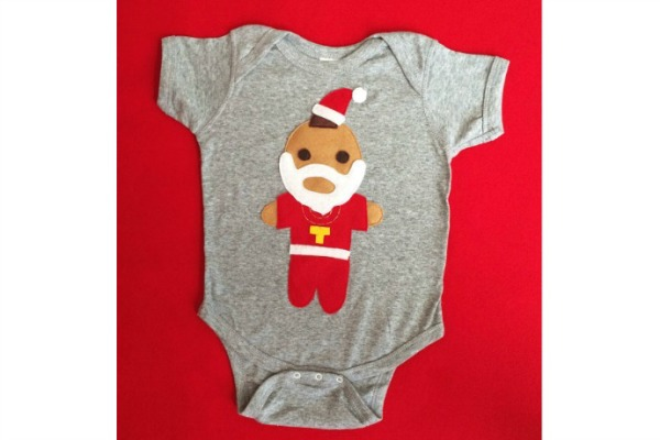 Holiday Mr. T: Holiday onesies for parents with a sense of humor