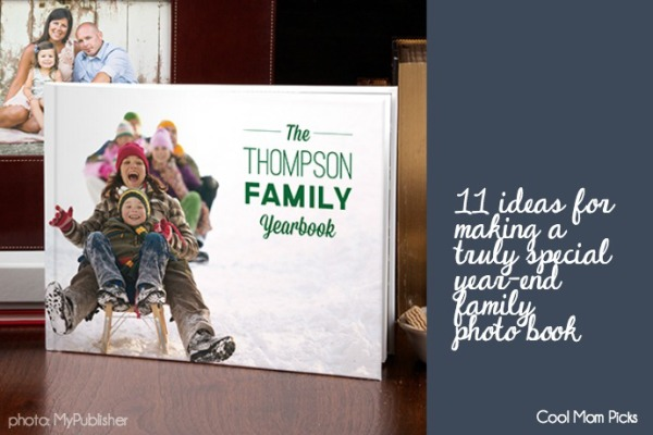 Creative ideas for a year-end family photo book | Cool Mom Picks