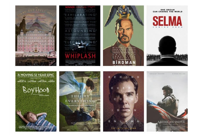 Where to to see all the 2015 Oscar best picture nominees. (Especially if you're parents and you've only seen Big Hero 6.)