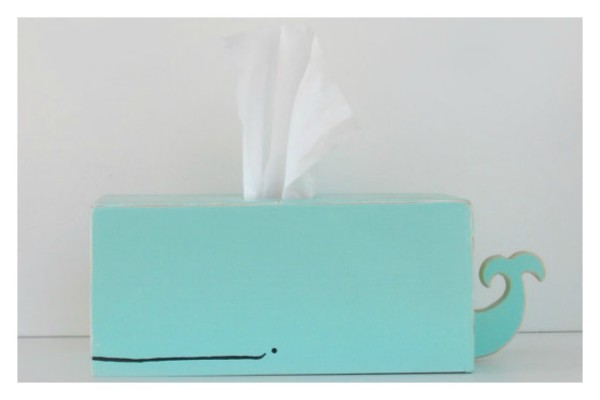 Fun tissue holder shaped like a whale | ShopSparklyPony on Etsy
