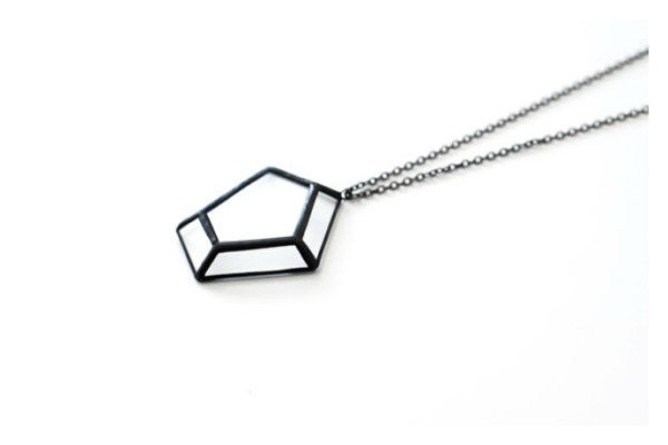 Origami stained glass necklaces from Here and Now Shop