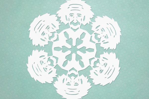Template for making an Albert Einstein snowflake