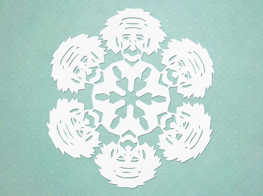 Template for making an Albert Einstein snowflake