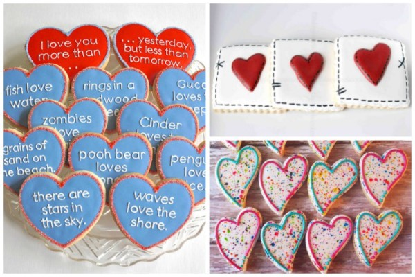 Creative Valentines cookies on Etsy