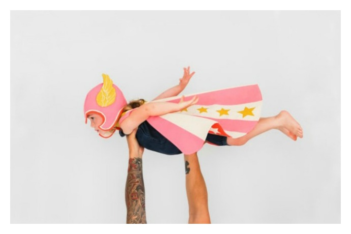 Handmade superhero capes that let kids commence saving the world. While looking absolutely awesome.