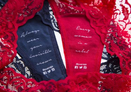 Naja custom hidden message panties printed with your own love letter