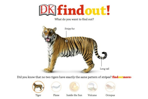 DK Find Out online encyclopedia for kids