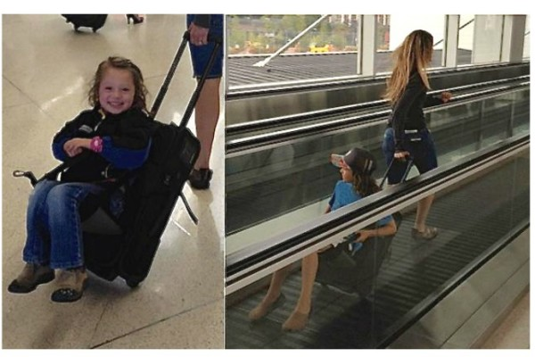 Turn your wheelie bag into a ride-on suitcase for toddlers with the Lugabug