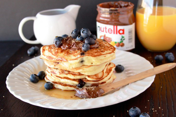 Nutella recipes for breakfast: Blueberry Nutella Pancakes | Cooking with Ruthie