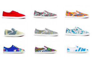 Bucketfeet shoes bring real artwork to kids' feet. Eh, walls have been done.