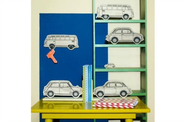 Wooden car bookends on sale at My Sweet Muffin