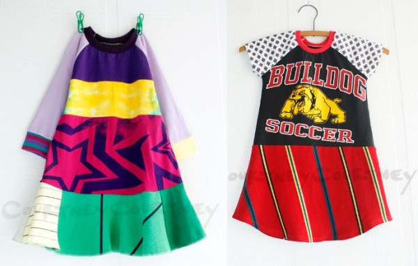 Courtney Courtney upcycled t-shirt dresses for girls. Our faves!