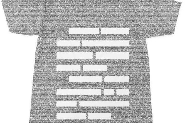 Elements of Style tee made up entirely of text from the book