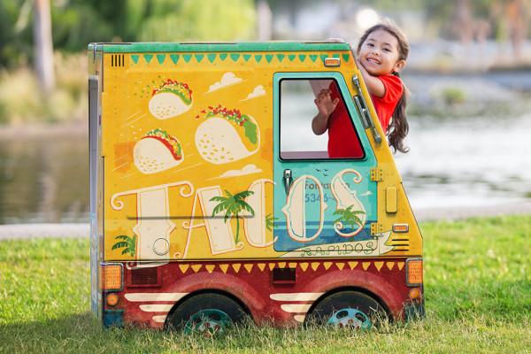 Cardboard play taco truck by OTO
