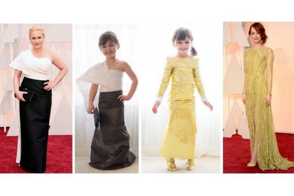#fashionbymayhem: Modeling Oscars dresses she helped make herself!