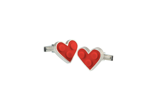 Lego Jewelry Heart Cuff Links from JacQueline Sanchez