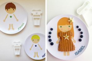 Clever personalized plates that let kids play with their food the fashionable way.