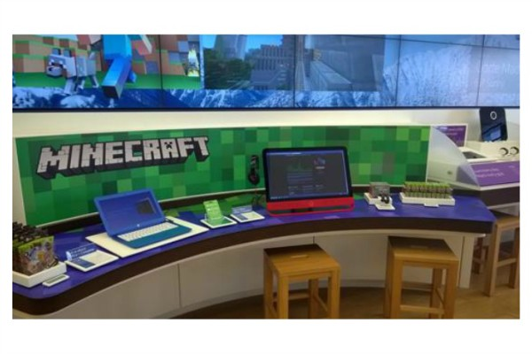 Minecraft + Gameband : Now you can try it out in select Microsoft Stores