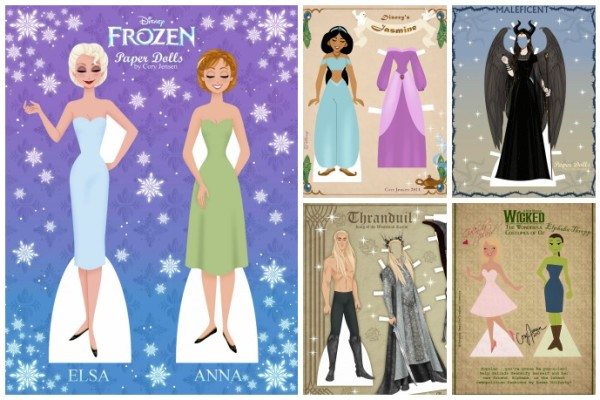 An amazing collection of free printable paper dolls by Cory Jensen