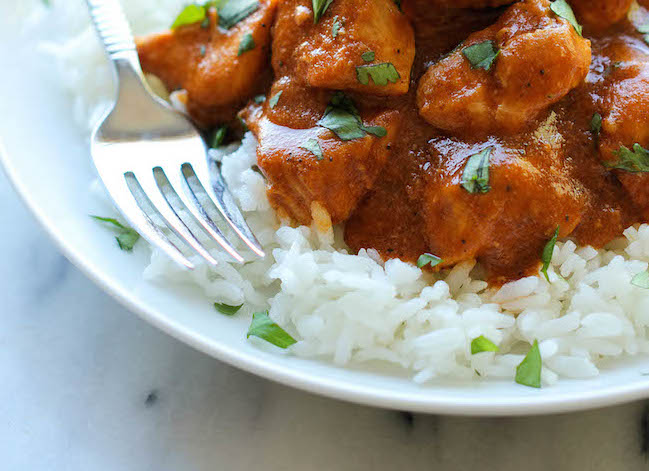 Easy Slow Cooker Butter Chicken recipe via Damn Delicious