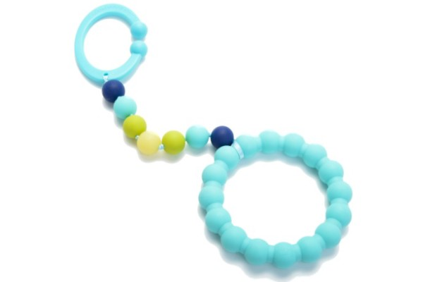 Chewbeads Gramercy Stroller Baby Teething Toy in Blue