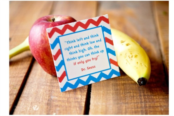 Free printable set of Dr. Seuss lunch box notes by Chickabug