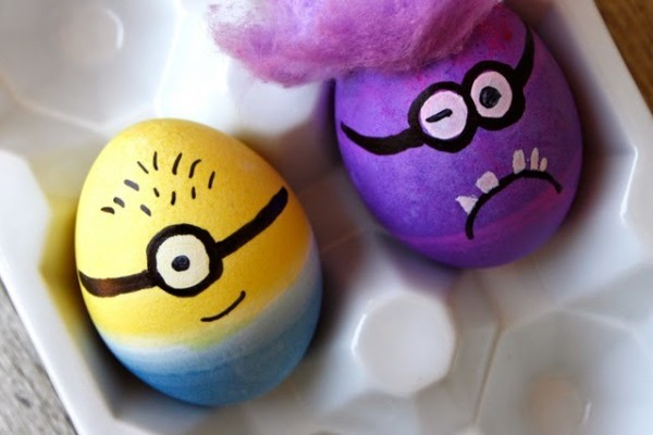 Minion Easter Eggs DIY from We Have Aars