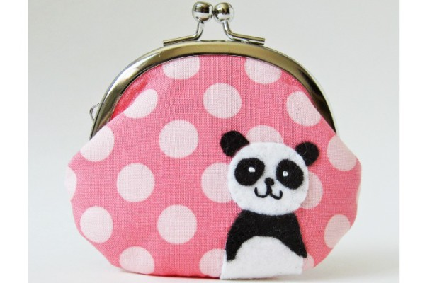 Oktak Pink Panda Coin Purse | Cool Mom Picks Indie Shop