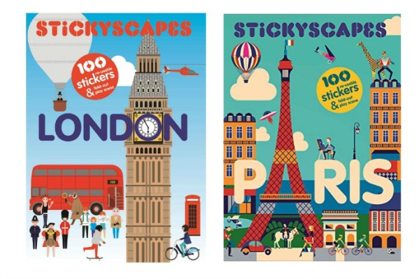 Travel toys for kids: Stickyscapes books