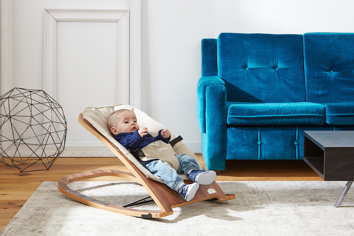 A modern baby bounce chair without all the bells and whistles. And that's a good thing.