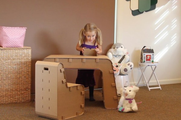Cardboard furniture for kids from the Cardboard Guys: Kids decorate it themselves!
