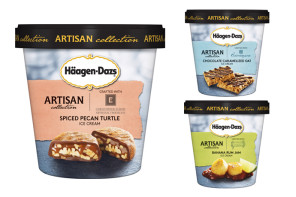 A first look at the new Haagen Dazs Artisan Collection. We hope you're sitting down, ice cream lovers.