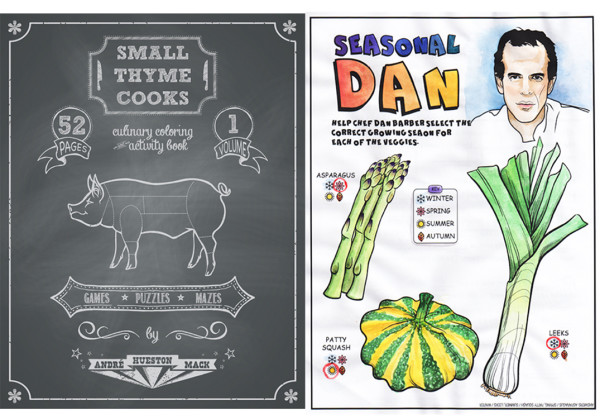 Small Thyme Cooks coloring book and activity book for future foodies