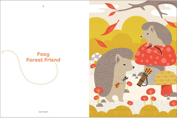 Woodland friends: A book of adorable prints ready for framing