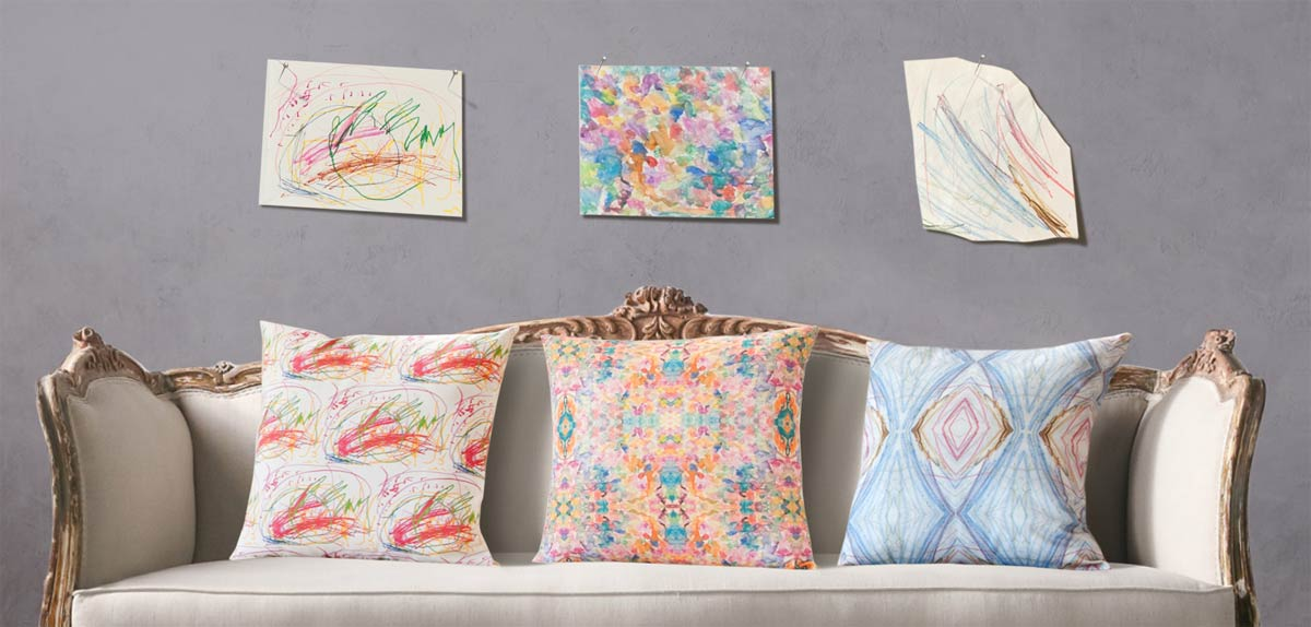Custom art pillows: The Mother's Day gift that lets your kids paint on the couch. Kind of.